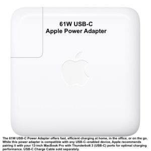 "Apple 61W USB-C Power Adapter NEW!!! Macbook Retina Display 13,3"" MNF72LL/A"
