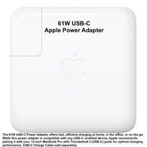 """Apple 61W USB-C Power Adapter NEW!!! Macbook Retina Display 13,3"""" MNF72LL/A"""