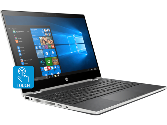 "HP PAVILION x360 14-CD1010NR (5TS83UA) 14"" TOUCHSCREEN 2 IN 1 LAPTOP NATUAL SILVER"